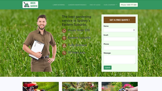 web design for gardeners